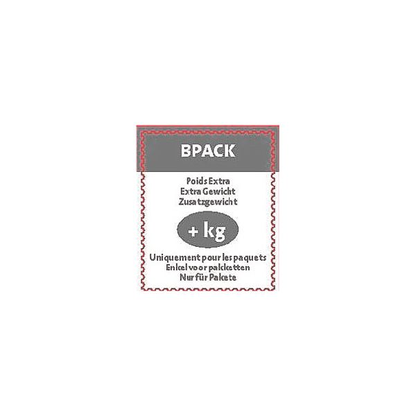 bpost Pak van 5 etiketten »bpack extra gewicht«