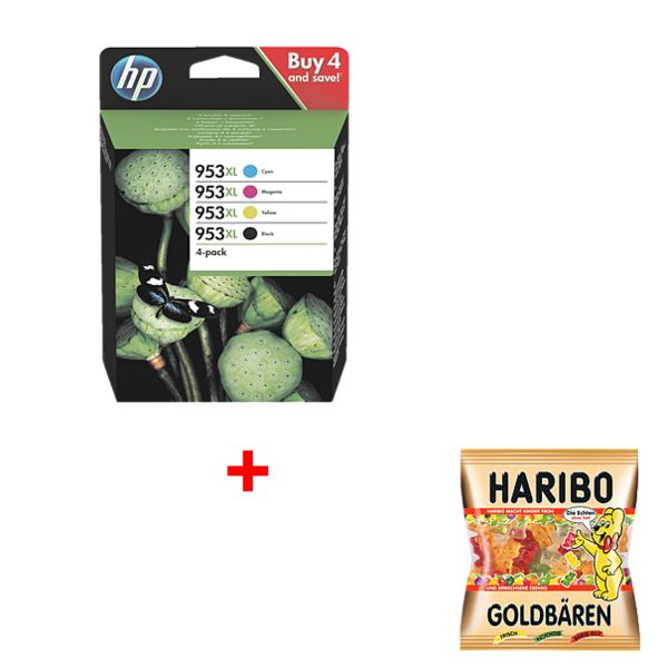 HP Inktpatroon HP 953XL - 3HZ52AE incl. Fruitgom »Goudbeertjes«