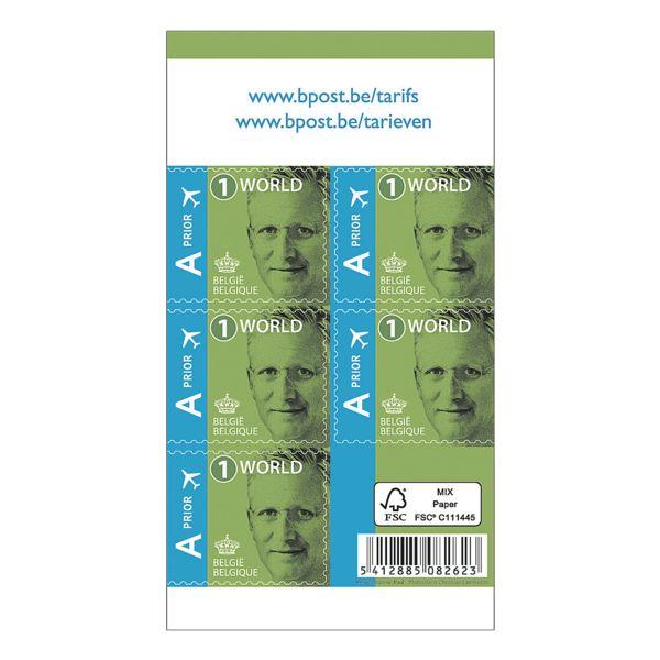 bpost Postzegels, tarief: World