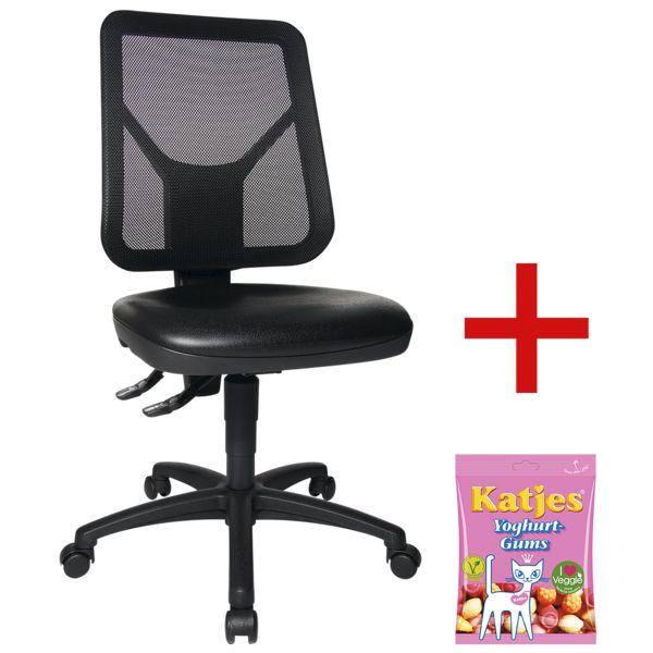 Topstar Werkstoel »TEC 80 PK«  zonder armleuningen incl. vruchtengums »Joghurtgums«