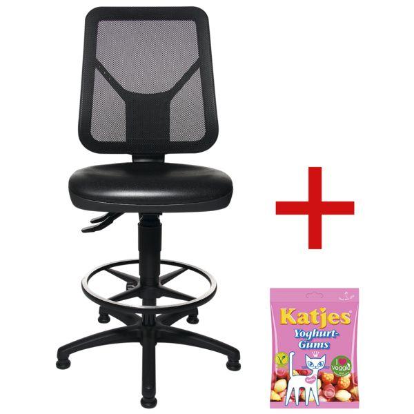 Topstar Werkstoel »TEC 80 PK Counter« zonder armleuningen incl. vruchtengums »Joghurtgums«