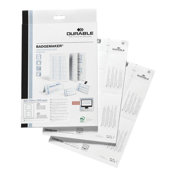 Durable Insteekkaartjes »145802«