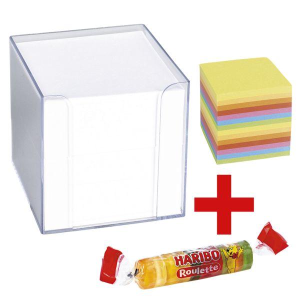König & Ebhardt Memo-box incl. reserveblaadjes voor K&E Memo-box en vruchtengoms »Roulette« 25 g