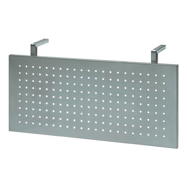 HAMMERBACHER Beenafscherming van gaatjesplaat (BXH) 108 x 35  cm zilver voor  90° hoek