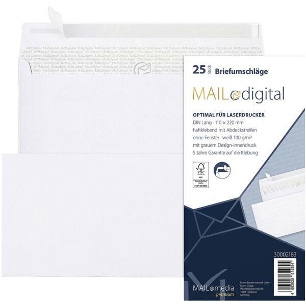 Enveloppen Mailmedia Topstar, DL 100 g/m² zonder venster - 25 stuk(s)