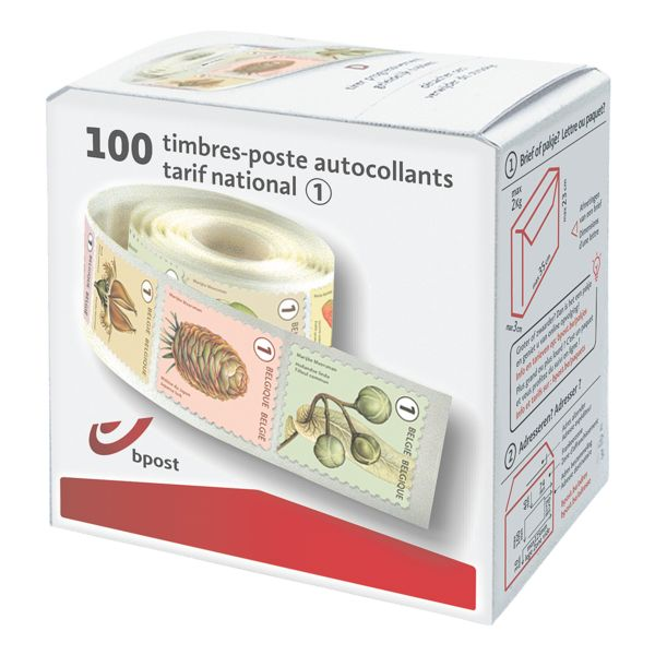 bpost Boîte de 100 timbres, tarif 1 : national non prior (fruit mix)