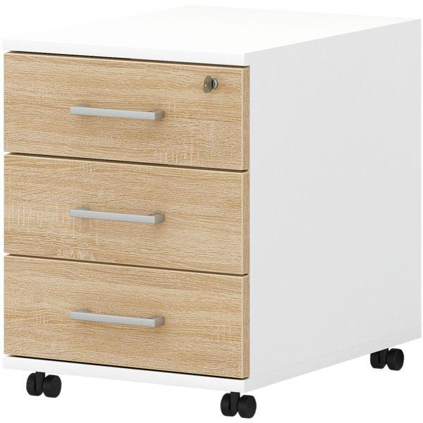 röhr Caisson à roulettes « Direct Office 2 » avec tiroir supérieur verrouillable