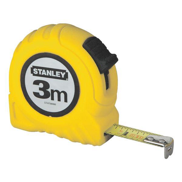 STANLEY Mètre ruban « Powerlock » 3 m avec boîtier en plastique jaune