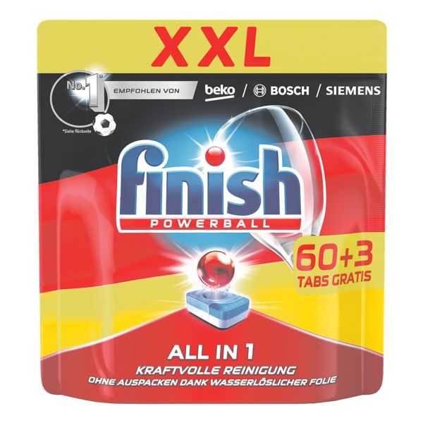 finish Tablettes lave-vaisselle « finish Powerball All in 1 XXL »