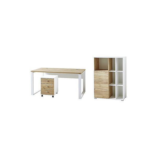 Germania-Werke Lot de meubles « Lioni » 3 pièces, bureau, caisson à roulettes, armoire 3 NC