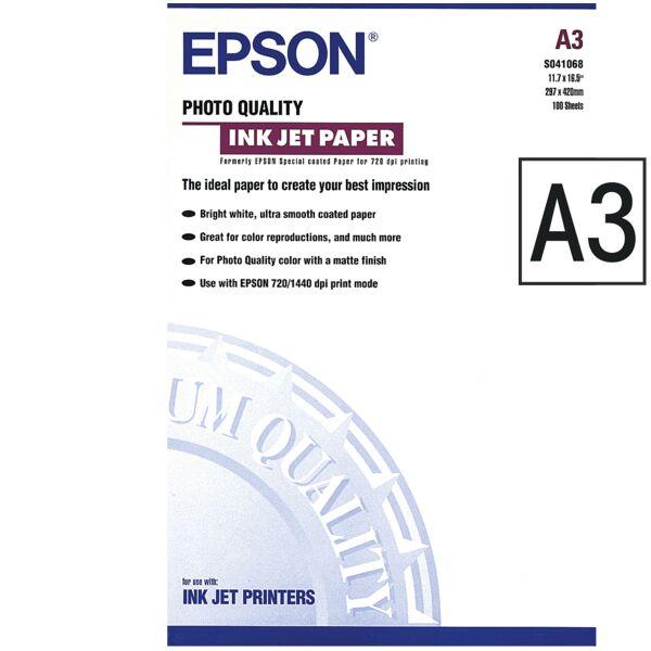 Epson Papier jet d'encre «Photo Quality InkJet», A3