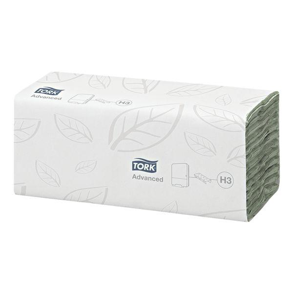 Essuie-mains en papier Tork Advanced 2 épaisseurs, vert, 25 cm x 41 cm de Ouate de cellulose avec pliage en C - 1920 feuilles au total