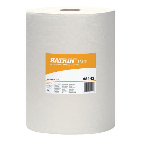 Katrin Rouleau de chiffons de nettoyage papier blanc double épaisseur 22 x 38 cm (2x1000 feuilles)