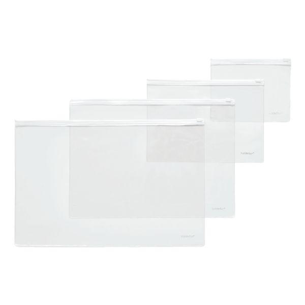 Foldersys Pochette à fermeture coulissante B4 horizontale
