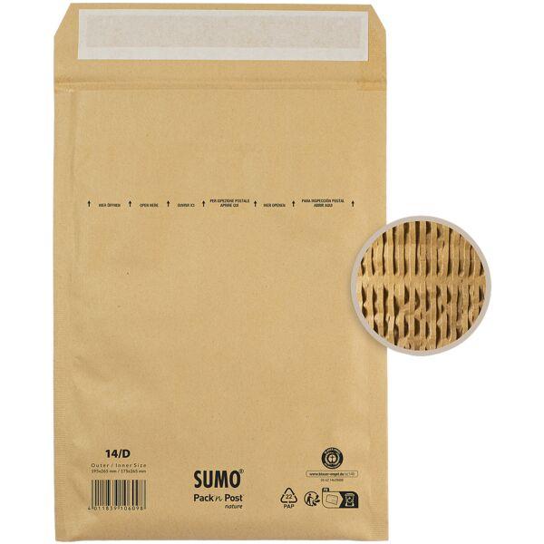 Mailmedia 50 pochettes d'expédition - rembourrage papier SUMO® SU1514, 19,5x26,5 cm, en grand paquet